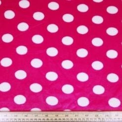 Winter Fleece Fabric Spot cerise