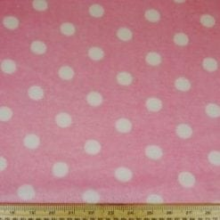 Huggable Fleece Fabric Jill's Spot pink