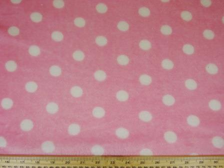 Huggable Fleece Fabric Jill's Spot pink