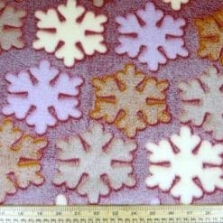 Huggable Fleece Fabric Marsh Mellow Flakes wine