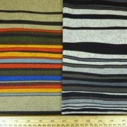 Jersey Fabric Brushed Cotton Stripe