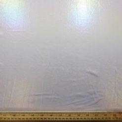 Lycra Fabric Foil White Shimmer