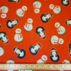 Jersey Fabric Cute Christmas Penguin