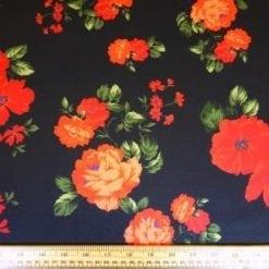 Scuba Jersey Fabric Red Poppy