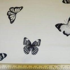 Scuba Jersey Fabric Butterfly Ivory Jill