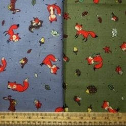 Foxes cotton print fabric