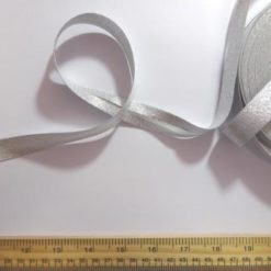 Metallic Bias Binding Silver 2cm Wide Branded