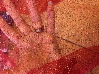 Glitter net mop
