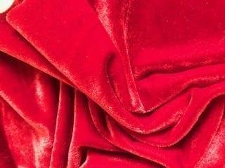 red steamed velour