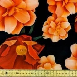 Scuba Jersey Fabric Tango Tastic Fleur