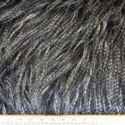 Faux Fur Fabric Luxury Siberian Wolf Thick Long Hair Salt & Pepper