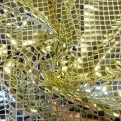 Sequin Jersey Fabric Squares Lurex Silver On Gold