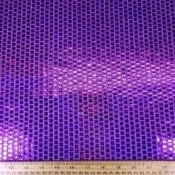 Sequin Jersey Fabric Mini Hologram Squares Lurex mauve
