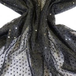 Sequin Jersey Fabric Pin Spot Lurex black