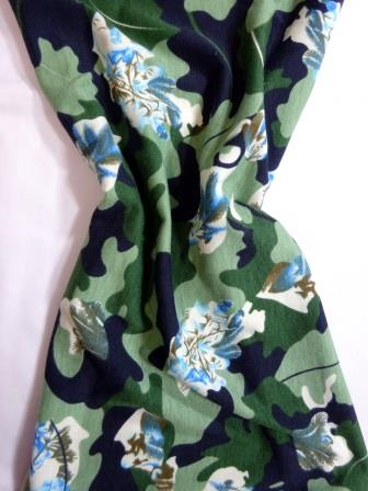 Jersey Fabric T-Shirting Camouflage Oak Leaf green