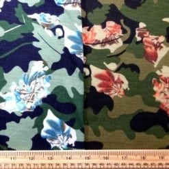 Jersey Fabric T-Shirting Camouflage Oak Leaf