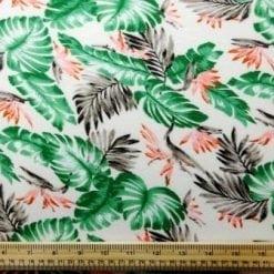 Jersey Fabric T-Shirting Hawaiian Leaf cream
