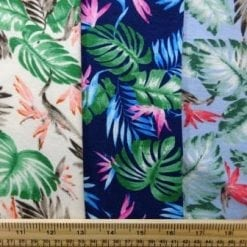 Jersey Fabric T-Shirting Hawaiian Leaf