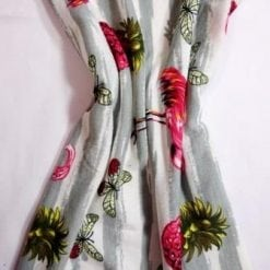 Jersey Fabric T-Shirting Pineapple Flamingo grey