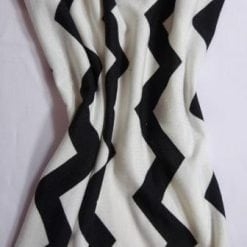 Jersey Fabric T-Shirting Zig Zag black/ivory