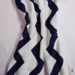 Jersey Fabric T-Shirting Zig Zag navy/white