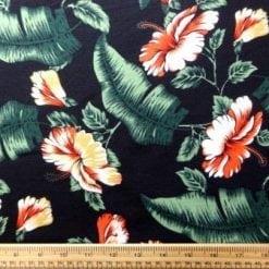 Jersey Fabric T-Shirting Orchid Fiesta black