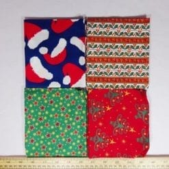 patchwork fat quarters xmas mixed