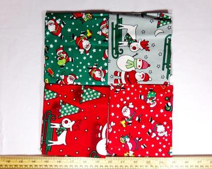 patchwork fat quarters santa hip hop