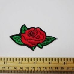 Rose Selection Sew On Motifs- rose with leaves