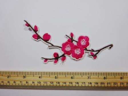 Sew On Motif Blossom Cherry