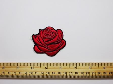 Rose Red Sew On Motif