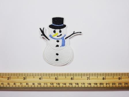 Christmas sew on motifs Snowman