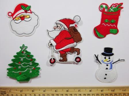 Christmas sew on motifs