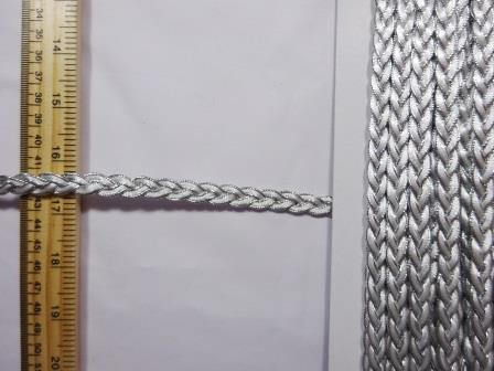 Platted Metallic Trimming Braid white/silver