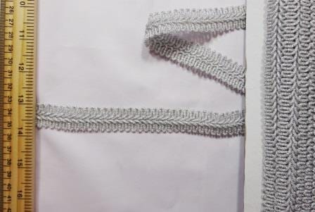 Military Knot Metallic Trimming Braid silver