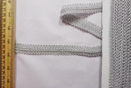 Military Knot Metallic Trimming Braid silver