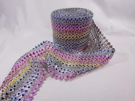 Rainbow Hearts Belting Trimming