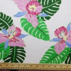 Viscose Java Quality Fabric Tahiti White