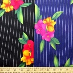Viscose Java Quality Fabric Pin Stripe Fleur