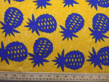 Viscose Java Quality Fabric Pineapple Crumble Yellow