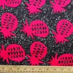 Viscose Java Quality Fabric Pineapple Crumble Cerise