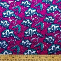 Crepe Viscose Fabric Tarot Leaf