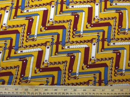 Crepe Viscose Fabric Mustard Chained Strap