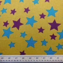 Cotton Brushed Fabric Star Struck Mustard