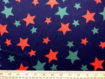 Cotton Brushed Fabric Star Struck Navy