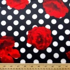 Scuba Jersey Fabric Spot The Rose