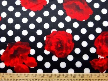 Scuba Jersey Fabric Spot The Rose