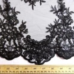 Lace Fabric Black Inspiration Guipur Scalloped