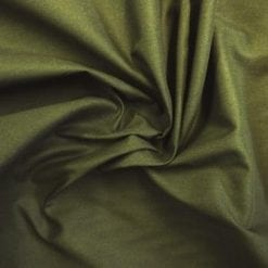 Plain Khaki Green 100% Cotton Fabric