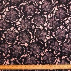 Scuba Jersey Fabric Peach Melba